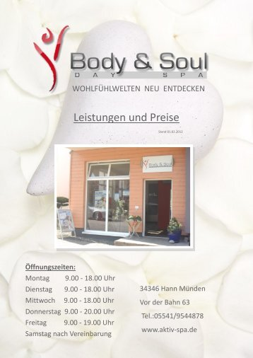 NEU!!! - Body & Soul - Wellness Hann. Münden