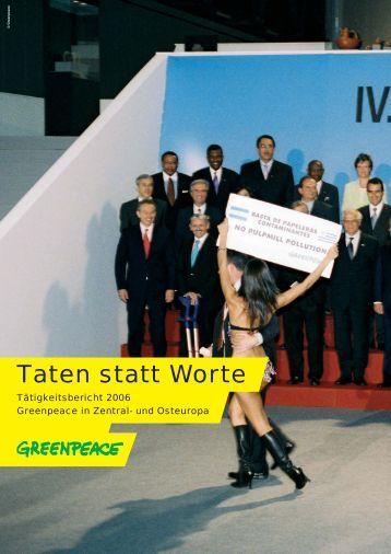 Taten statt Worte - Greenpeace