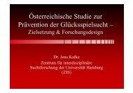 Vortrag Jens Kalke - Österreichische ARGE Suchtvorbeugung