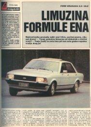 Prenesi PDF testa Ford Ford Granada 2.8 i GLS - Avto Magazin
