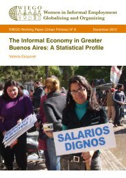 The Informal Economy in Greater Buenos Aires: A ... - WIEGO