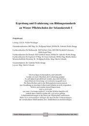 Erprobung und Evaluierung von Bildungsstandards an Wiener ...