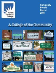 A College of the Community - Aiken Technical College