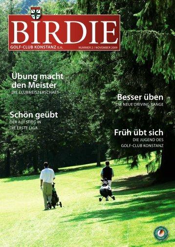Übung macht den Meister früh übt sich schön ... - Golfclub Konstanz