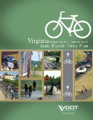 VDOT State Bicycle Policy Plan - Virginia Department of ...