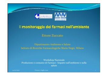 Il monitoraggio dei farmaci nell'ambiente - siass