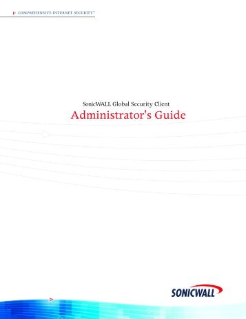 Administrator's Guide - SonicWALL