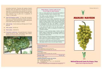 Manjari-Naveen:Layout 1.qxd - National Research Centre for Grapes