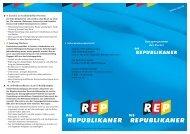 Kurzprogramm der Partei - Die Republikaner