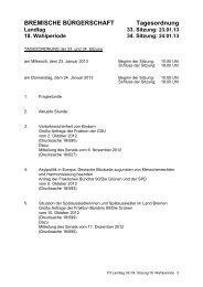 Vorläufiger Ablaufplan PDF - Bremische Bürgerschaft