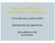 FORMULACION DE LA ESTRATEGIA COMERCIAL CON ...