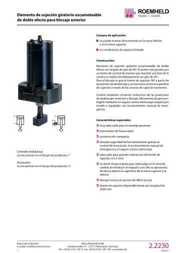 1 2 3 4 5 6 7 8 9 10 11 12 Elemento de sujeción ... - Römheld GmbH