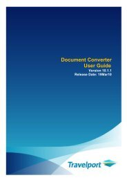 Document Converter User Guide - Travelport Support