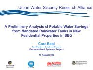 A Preliminary Analysis of Potable Water Savings from Mandated ...