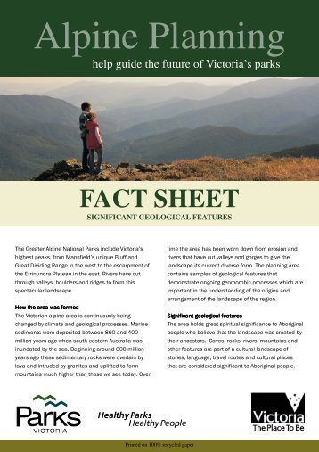Significant Geological Features - Parks Victoria