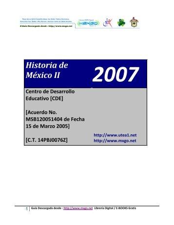 Historia de México II - Mxgo.net