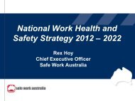National Work Health and Safety Strategy 2012 – 2022 - Safe Work ...