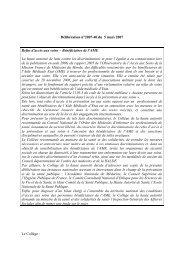 Délibération de La Halde N°2007-40 du 5 Mars 2007 - Romeurope