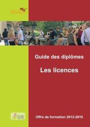 Le guide des licences - Université de Rennes 1