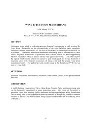 wind effects on pedestrians - The Hong Kong Institute of Steel ...