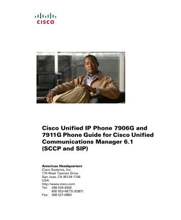 Cisco Unified IP Phone 7906G and 7911G Phone Guide for Cisco ...