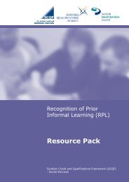 RPL Resource Pack - Scottish Credit and Qualifications Framework