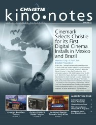 Cinemark Selects Christie for its First Digital Cinema Installs in ...