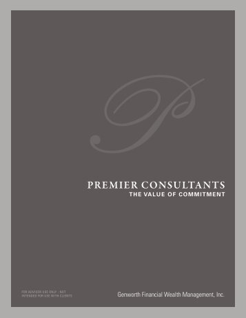 premier consultants - Genworth Financial Wealth Management, Inc.