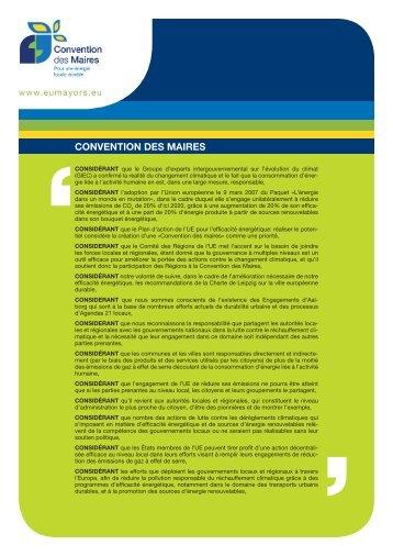 La Convention des Maires