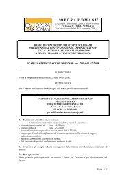 SCADENZA PRESENTAZIONE DOMANDE: ore 12:00 del 11/12/2008