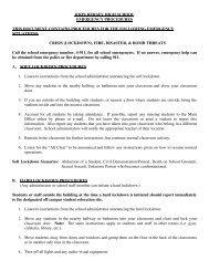 Emergency Procedures - John Hersey High School