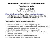 Electronic structure calculations - (TAM) at Northwestern University