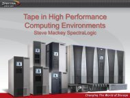 Developments in Tape Storage and Suitability for HPC Environments