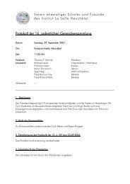 GV 2007 - Verein ehemaliger Schüler und Freunde des Institut La ...