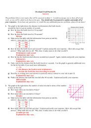 Practice #6 - Answers - Jones College Prep
