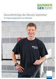 Gesundheitstipp des Monats September - Potsdamer Laufclub