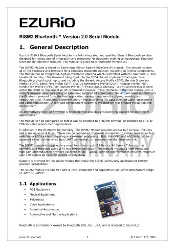 Hardware Interface Description - Standard ICs