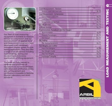 LOAD MEASUREMENT AND TESTING - Arbil Lifting Gear