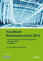 Handbuch Reisekostenrecht 2013 - DATAKONTEXT