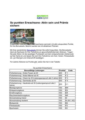 So punkten Erwachsene - Potsdamer Laufclub