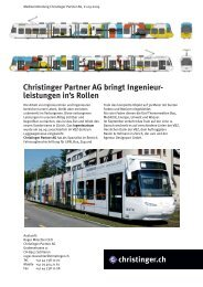 Christinger Partner AG bringt Ingenieur- leistungen in's Rollen