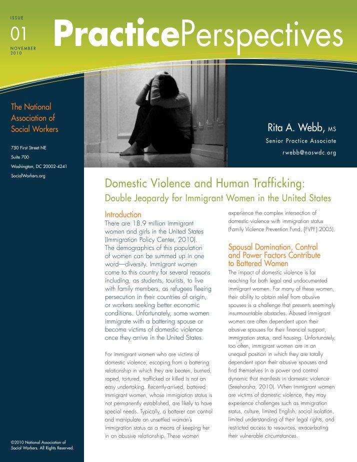 domestic violence and the immgrant experience Domestic violence has been an unfortunate fact of life for many women in this nation,  domestic violence and the immgrant experience essay.