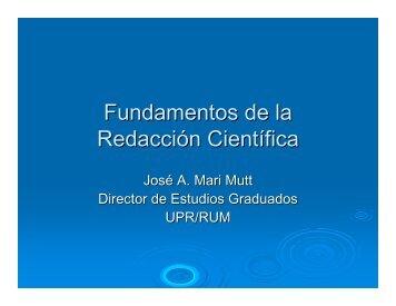 Fundamentos de la Redacción Científica (PDF) - Oficina de Estudios ...