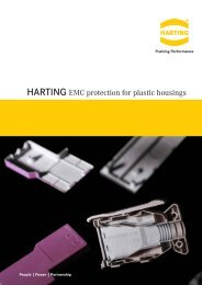HARTING EMC protection for plastic housings