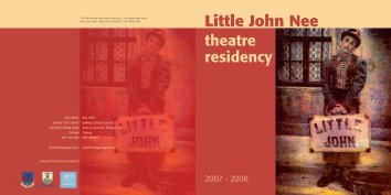 Little John Nee Theatre Residency 2007 - Galway County Council