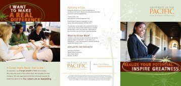 Education - University of the Pacific