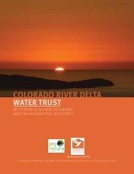 Colorado River Delta Water Trust Report - Sonoran Institute