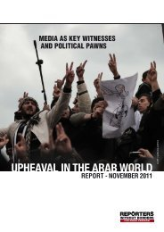 UPHEAVAL IN THE ARAB WORLD © - Reporters Without Borders
