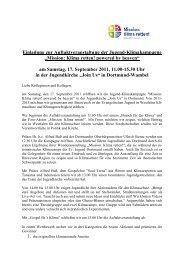 Einladung zur Auftaktveranstaltung der Jugend-Klimakampagne