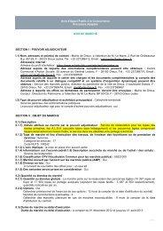 …/… Avis d'Appel Public à la Concurrence Procédure ... - Dreux.com